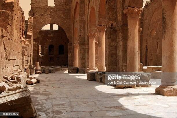 Interior of Basilica of St.Sergius, Resafa