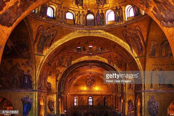 Interior of Basilica San Marco in Venice, Italy