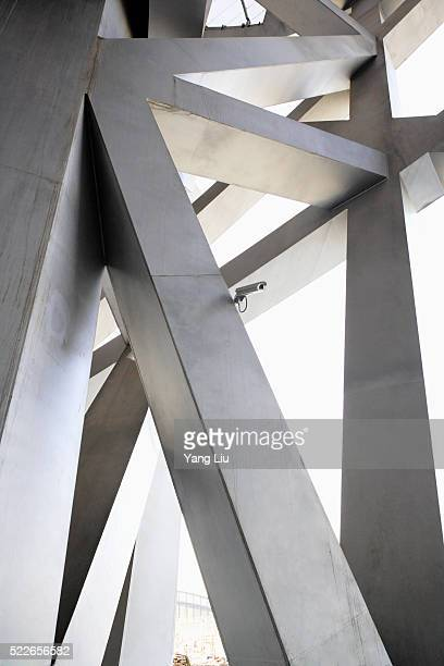 interior of beijing national stadium - stadio olimpico nazionale foto e immagini stock