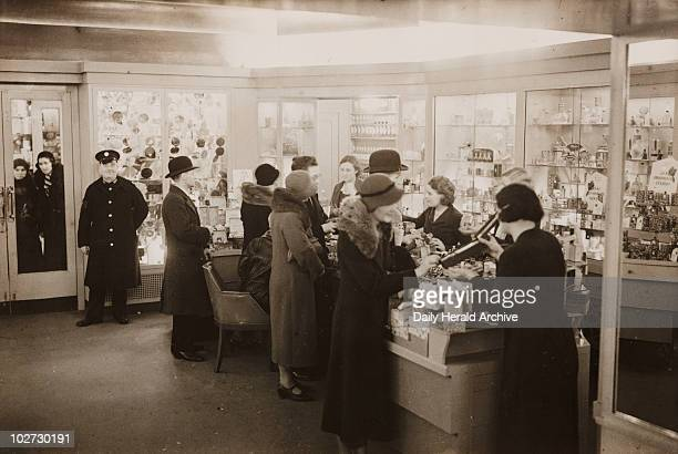 Interior of Boots the Chemist Regent Street London 8 December 1932 ' Photograph by George Woodbine