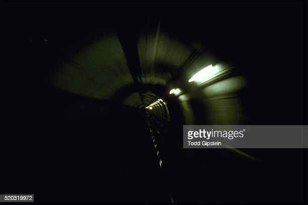 interior of boston subway tunnel - gipstein stock pictures, royalty-free photos & images