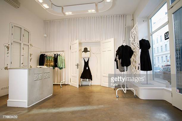 interior of boutique - boutique stock photos and pictures