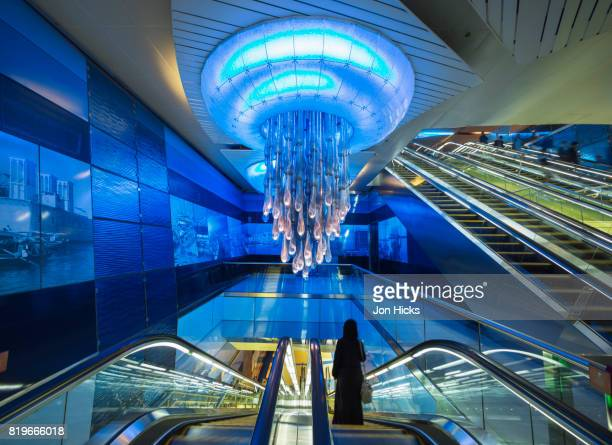 Interior of Bur Juman station on the Dubai Metro system.