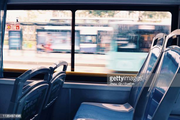 interior of bus - bus stock pictures, royalty-free photos & images