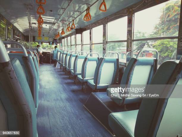 interior of bus - seat stock pictures, royalty-free photos & images