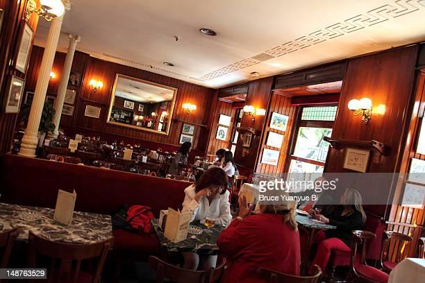 Interior of Cafe Gijon.