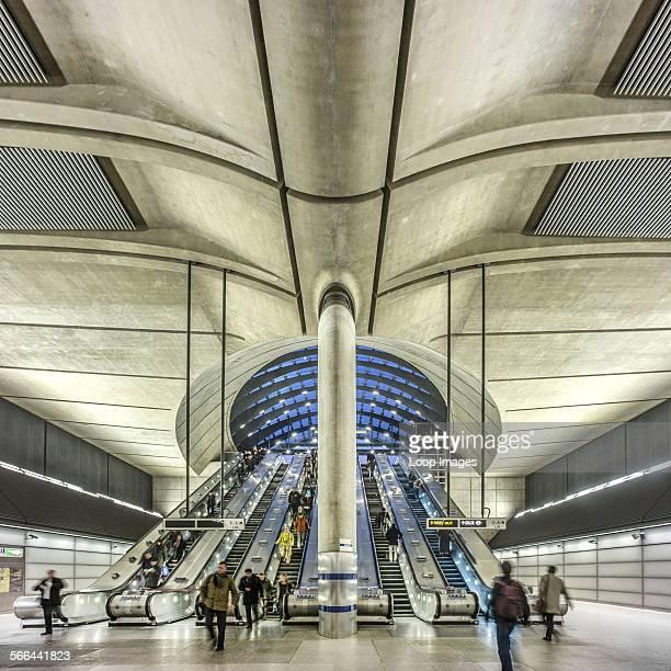 Interior of Canary Wharf tube station