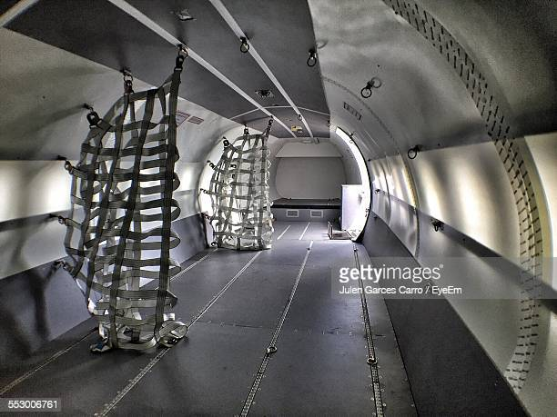 interior of cargo plane - vehicle interior stock pictures, royalty-free photos & images