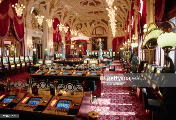 interior of casino in monte carlo - monte carlo stock-fotos und bilder