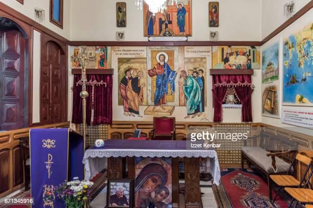 Interior of catholic church of Antakya, Hatay, southeastern Turkey