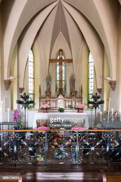 Interior of chapel outside Dieffenthal. Images taken in the Alsace Region of France between Chatenois and Andlau