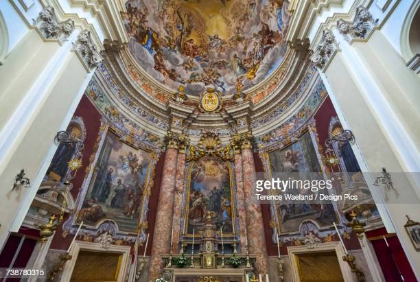 interior of church of st blaise (st blasius) - terence waeland stock pictures, royalty-free photos & images