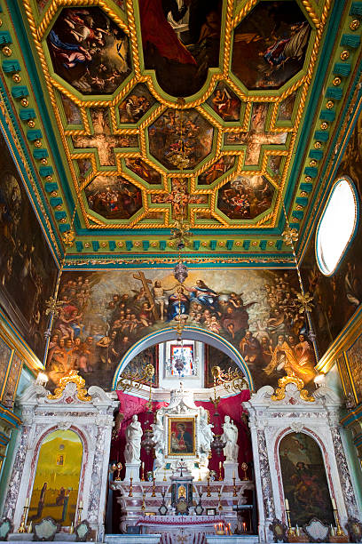 Interior of church on Our-Lady-of-the-Rock Island.