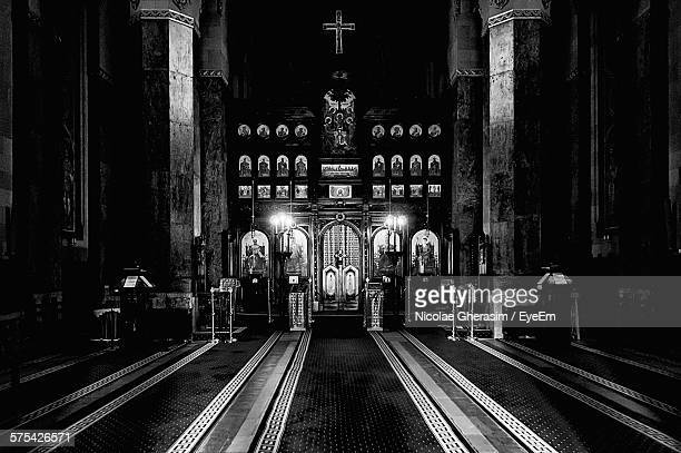 interior of church - religious symbol stock pictures, royalty-free photos & images