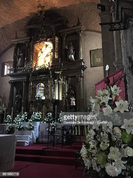 Flower Arrangements For Church Altar Stock Pictures Royalty Free Photos Images Getty Images