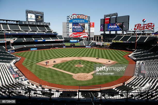 Interior of Citi Field at the announcement of the New York Mets ARAMARK's AllStar Culinary Lineup For Inaugural Season at Caesars Club at Citi Field...