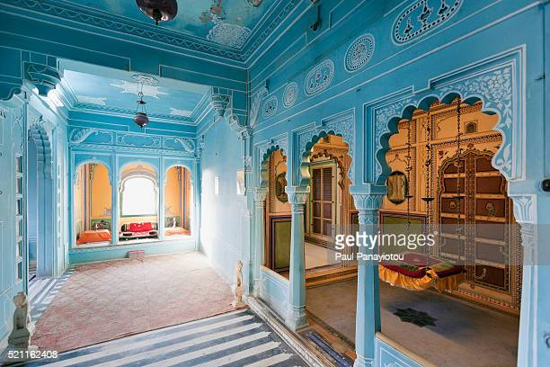 interior of city palace, udaipur, rajasthan, india - udaipur stock pictures, royalty-free photos & images