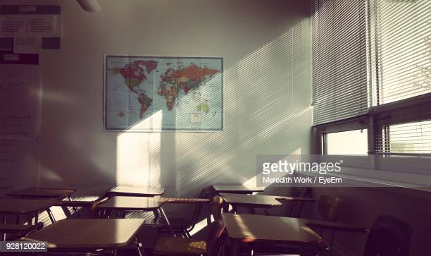 interior of classroom - classroom stock pictures, royalty-free photos & images