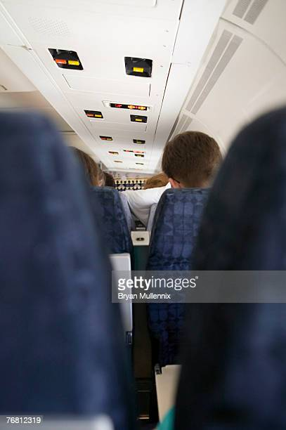 Interior of commercial airplane