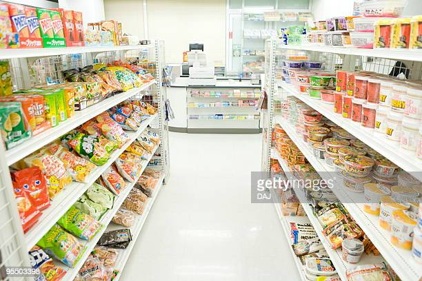 interior of convenience store - convenience store stock photos and pictures