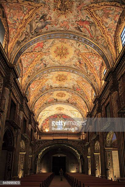 interior of convent of santo domingo - alicante fotografías e imágenes de stock