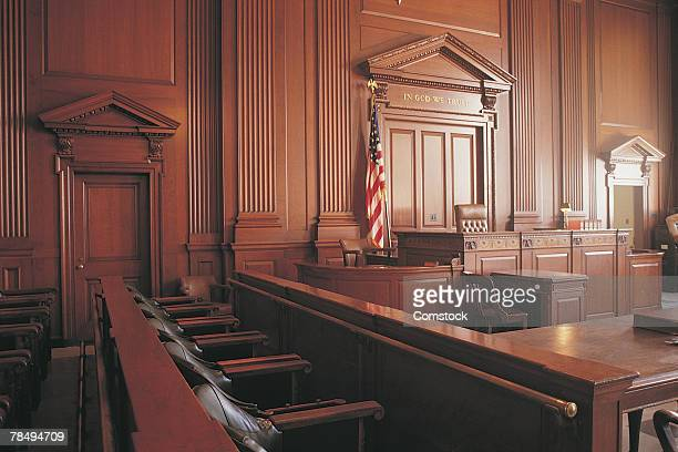 interior of courtroom - courtroom stock pictures, royalty-free photos & images
