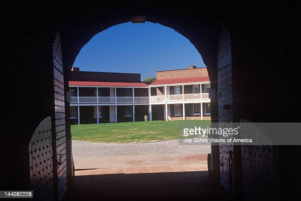 Interior of courtyard of Fort McHenry National Monument in Baltimore MD
