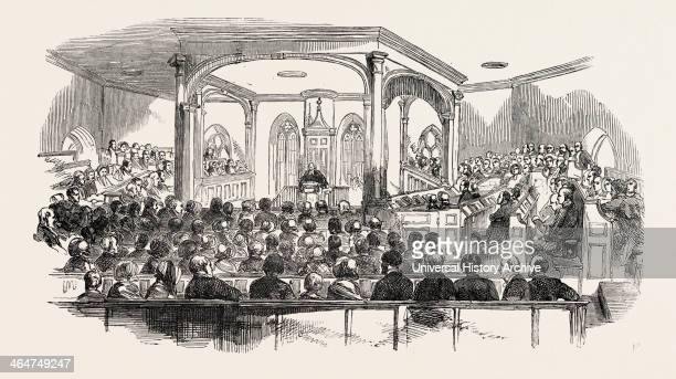 Interior Of Crathie Church Where Her Majesty And His Royal Highness Prince Albert Attended Divine Service The Service Was Performed By The Rev Dr...