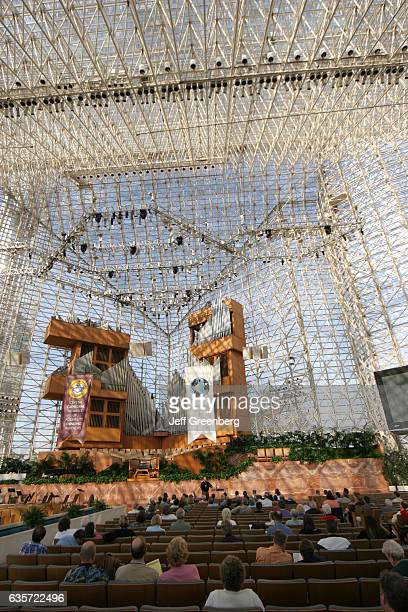 Interior of Crystal Cathedral.