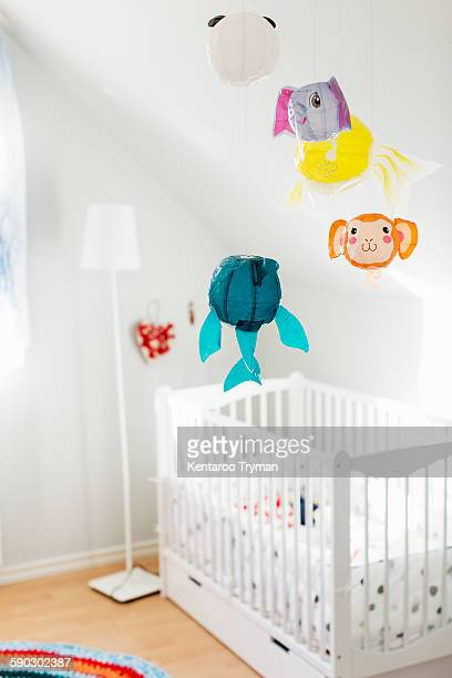 Interior of decorated baby room