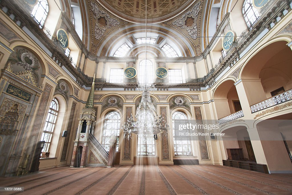 Interior of Dolmabahce Mosque, Istanbul, Turkey : Stock Photo