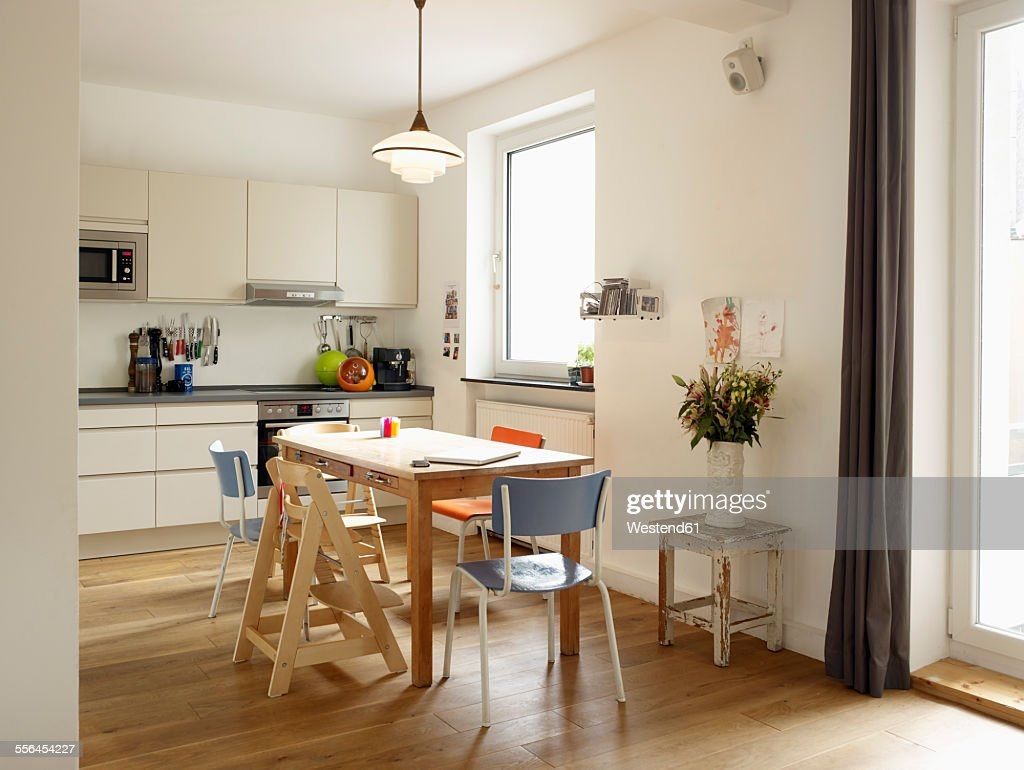 Interior of domestic kitchen : ストックフォト