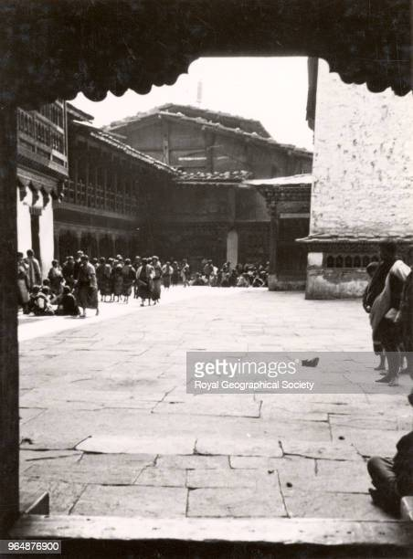 Interior of Dzong at Paro Bhutan 1933