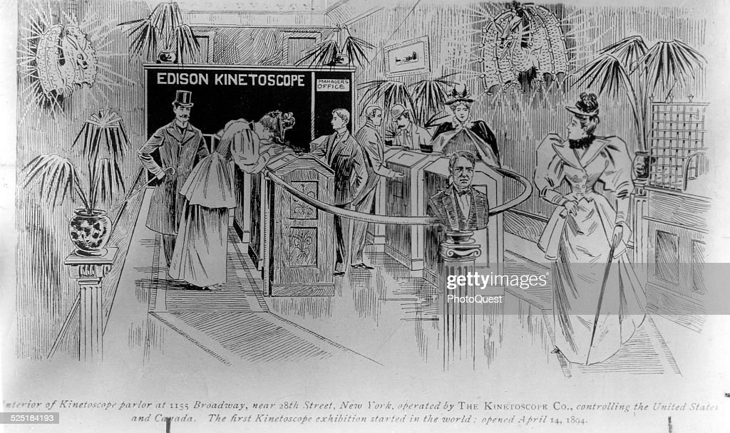 Interior of Edison Kinetoscope Parlor at 1155 Broadway, New