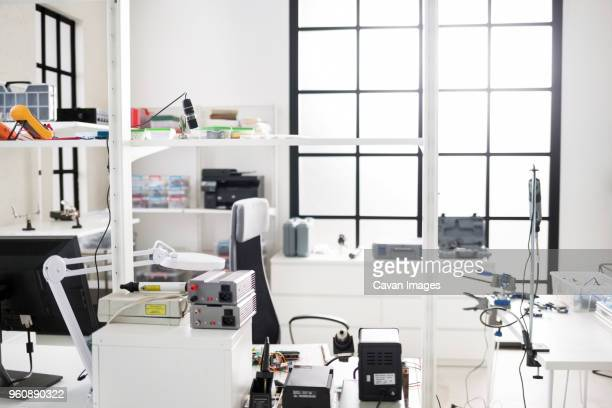 interior of electronic laboratory - oscilloscope stock pictures, royalty-free photos & images