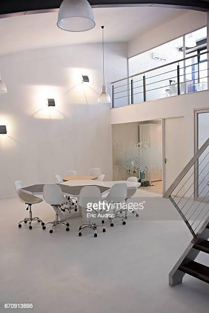Interior of empty open meeting room