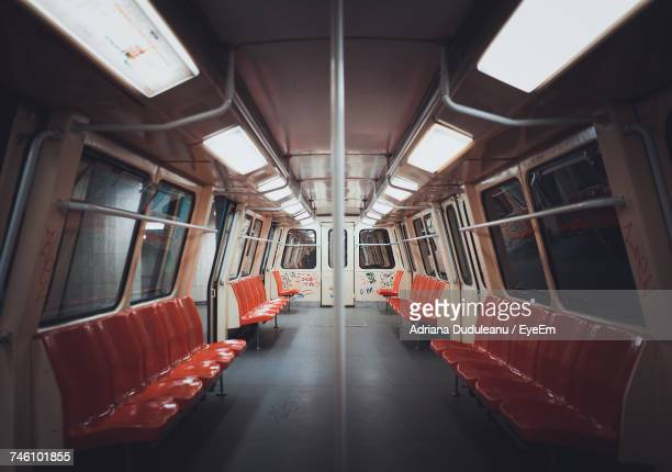 interior of empty train - train interior stock pictures, royalty-free photos & images