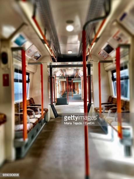interior of empty train - maria tejada stock pictures, royalty-free photos & images