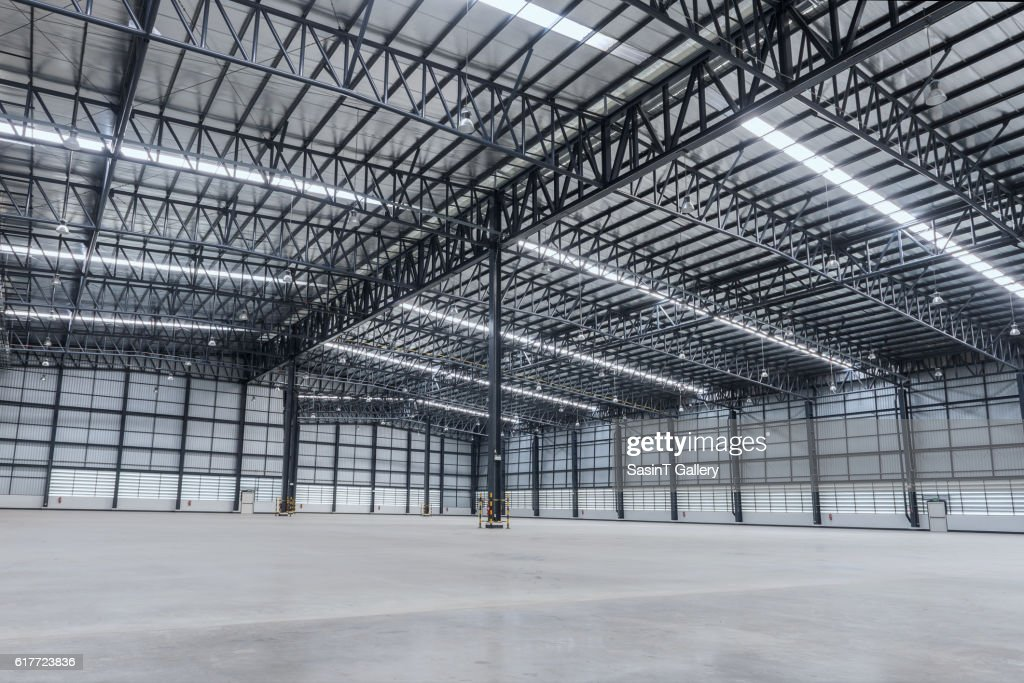 interior of empty warehouse stock photo getty images