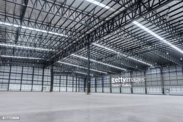 interior of empty warehouse - empty stock pictures, royalty-free photos & images