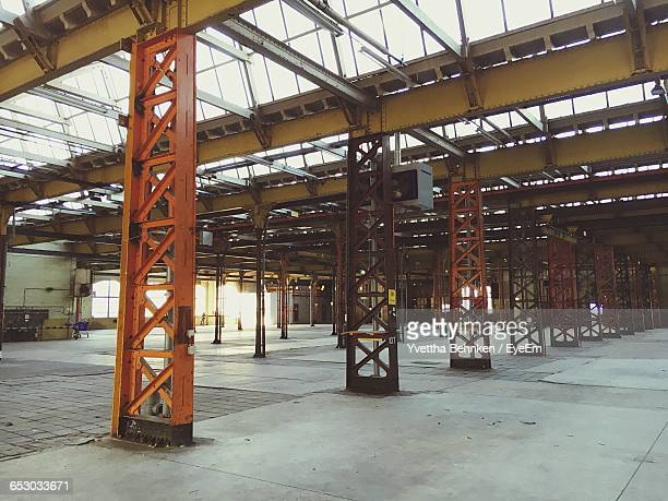 interior of empty warehouse - tilburg stock pictures, royalty-free photos & images