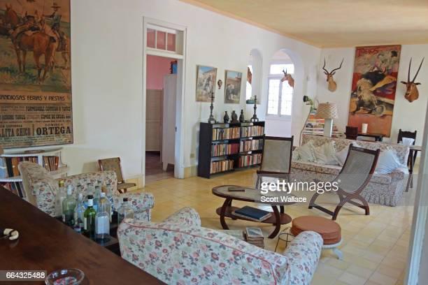 Interior of Ernest Hemingway home at Finca Vigia 24th February 2014