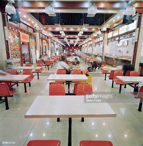 Interior of fast food restaurant in Beijing