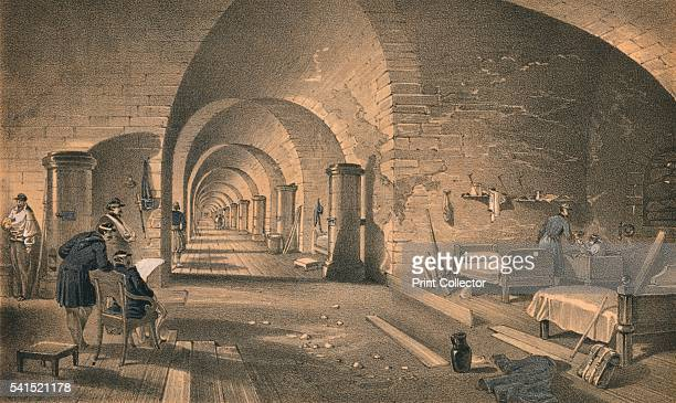 Interior of Fort Nicholas' 1856 The print shows an interior view of Fort of Saint Nicholas held by Russians until 1853 when Turks stormed the enemy...