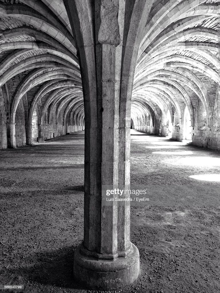 Interior Of Fountains Abbey : Stock Photo