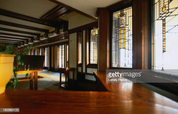 Interior of Frank Lloyd Wright's Robie House.