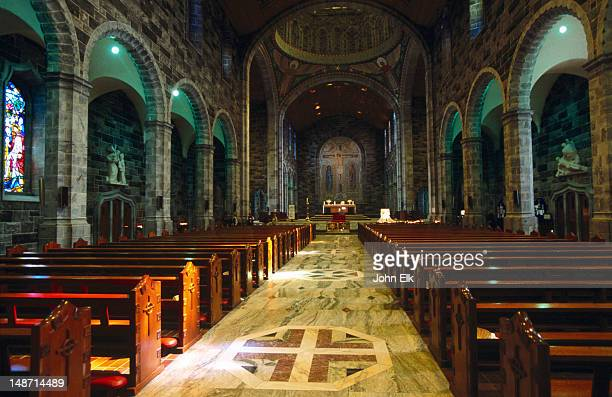 interior of galway cathedral. - county galway stock pictures, royalty-free photos & images