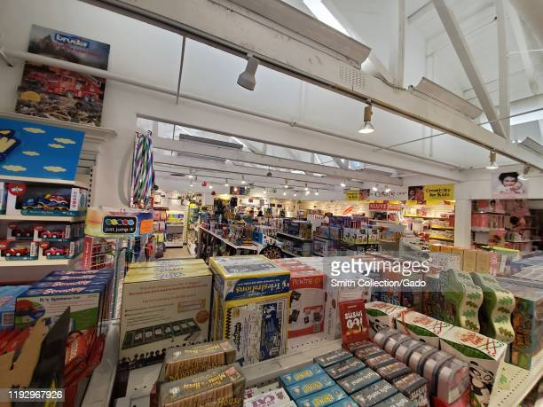 Interior of Games Unlimited toy and board game store in Danville, California, November 29, 2019.