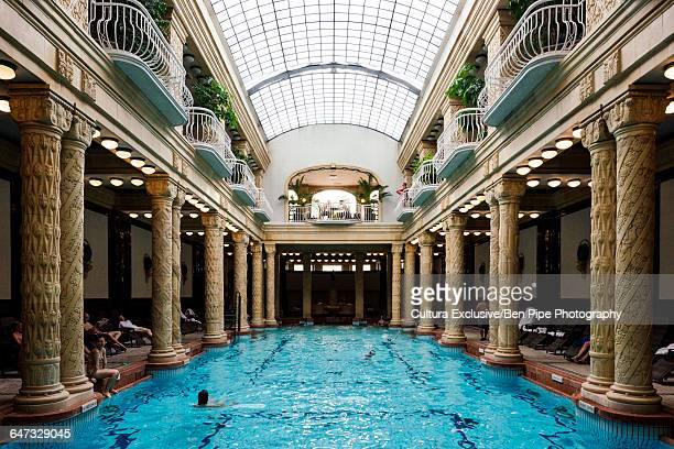 Interior of Gellrt Baths, Budapest, Hungary