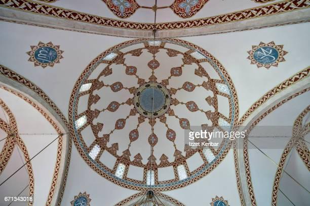 interior of habip neccar historical mosque, antakya, hatay, southeastern turkey - hatay stockfoto's en -beelden